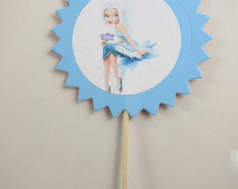 Fairies theme cupcake topper , Birthday cupcake picks, Favor Birthday , Party Birthday Decoration, Tinker Bell and friens