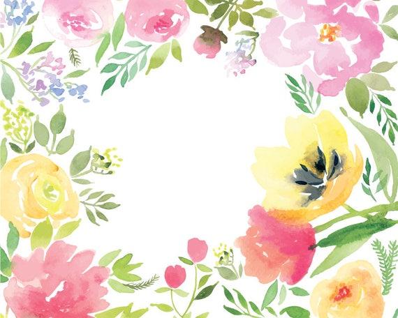 Watercolour Flower Fra...