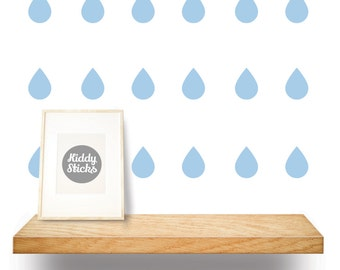 Raindrop Confetti Wall Stickers / Decals - 2 Sizes & 21 Colours Available - FREE UK POSTAGE