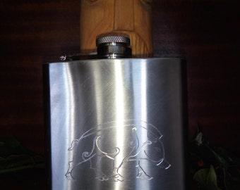 Germanic/Celtic Boar hip flask