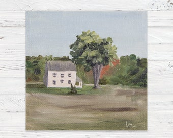 Oil Landscape Painting of Maine House - Landscape Painting - Oil Painting - Painting - Painting on Canvas