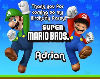 Super Mario Bros. Thank you card