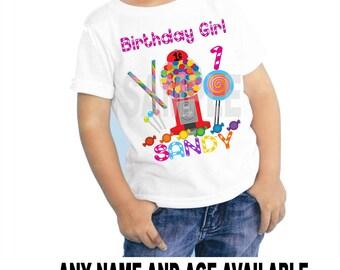Candy Land Personalized Custom Birthday Shirt