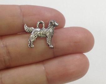 4 Golden Retriever charm, Dog Charm, Pet Charm
