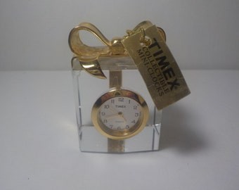 Vintage, collectable, mini Timex, Clock, new battery