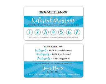 Rodan + Fields Referral Cards WHITE