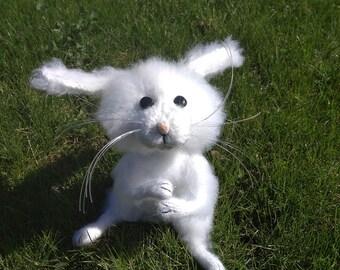 Rabbit Stuffed animal Rabbit gift Plush bunny Easter souvenir Rabbit doll White rabbit Gift for her Bunny Cute bunny Easter rabbit  Gift toy