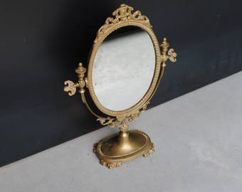 Dressing table mirror bronze