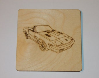 Triumph TR7 Coaster - Etched wood
