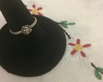 Vintage Sterling Flower Ring
