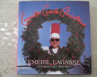 Vintage 1997 Emeril's Creole Christmas Cookbook Hard Cover with Dust Jacket