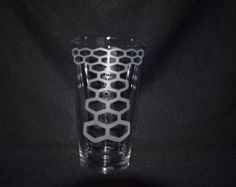 Doctor Who Inspired Torchwood Etched Glasses