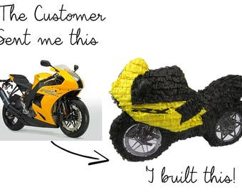 Motorcycle Replica Custom Pinata