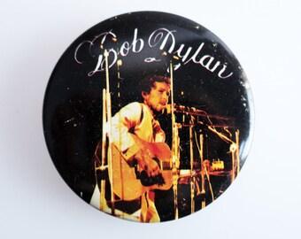 "Bob Dylan - Vintage 1970s 2.5"" Pin Back Button Badge"