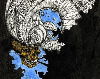 Thinky Skull (Print)