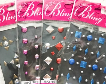 All that Bling by Jolee's 4 packs of Dimensional Embellishment Stud Gems