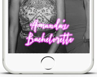 Custom Birthday Snapchat Pink Bachelorette