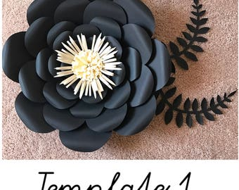 Paper Flower Template/ Template#1