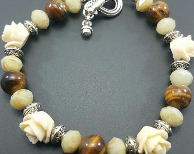 Tiger Eye Handmade Beaded Bracelet