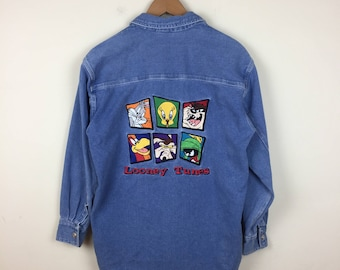90s Looney Runes Button Up Size XS