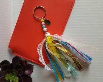 Ribbon Tassel Keychain Purse and Bag Accessories Planner Embellishments
