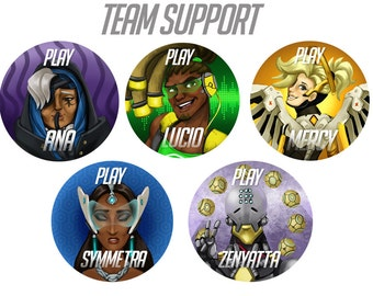 Overwatch Buttons - SUPPORT