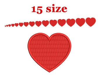 Heart Embroidery design. Mini heart Embroidery design. Love design. Heart shapes. Valentines day. Machine Embroidery Design.