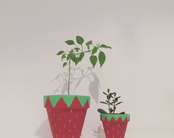 A Pair of Strawberry plant pots
