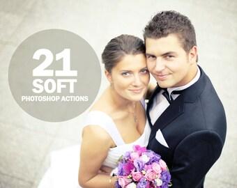 21 Soft photoshop Actions Collection (Action for photoshop CS5,CS6,CC)