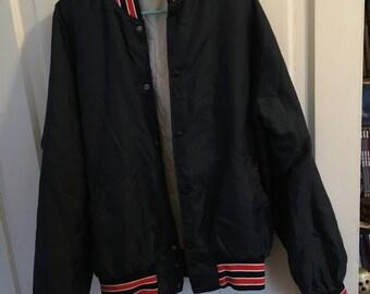 Blue and Orange Bomber Jacket