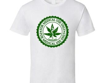 Cannabis T Shirt Medical Marijauna Stamp