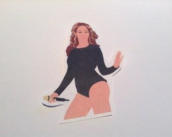 Beyonce PAPER Sticker, Keyring & Magnet