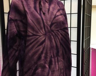 Spider Purple Tie Dye Hoodie Adult 2XL