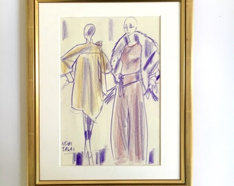 "Fashion illustration original ""NOBI TALAI"""