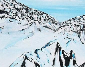 Snow - original acrylic on canvas
