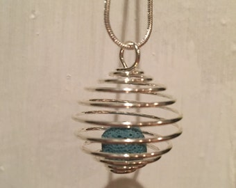 Essential oil lava bead diffuser necklace