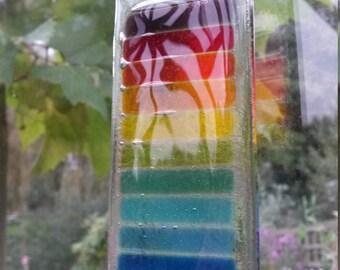 Wide Bar Inner Rainbow Suncatcher