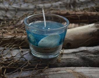 Ocean Seashell Gel Candle