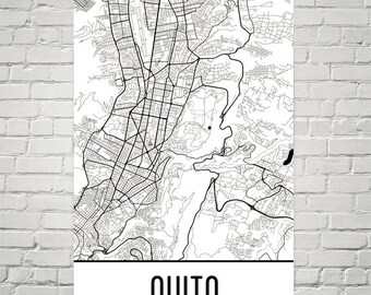 Quito Map, Quito Art, Quito Print, Quito Ecuador Poster, Quito Wall Art, Quito Gift, Quito Decor, Quito Map Art, Quito Map Print, Art Print