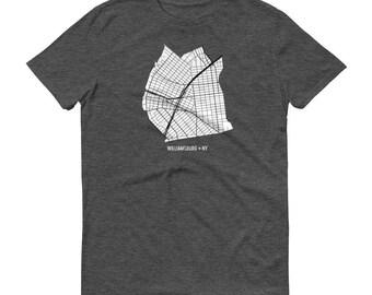 Williamsburg, Brooklyn New York, Brooklyn Map, Brooklyn Shirt, Williamsburg TShirt, Williamsburg Map, New York Shirt, Williamsburg Tee
