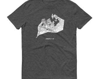 Louisville Shirt, Louisville KY, Louisville TShirt, Louisville Gift, Louisville Tee, Louisville Map, Kentucky Shirt, Kentucky Map University