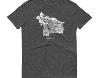 Portland Shirt, Portland OR, Portland TShirt, Portland Gift, Portland Tee, Portland Map, Oregon Shirt, Oregon Map, Portland Art, Portland