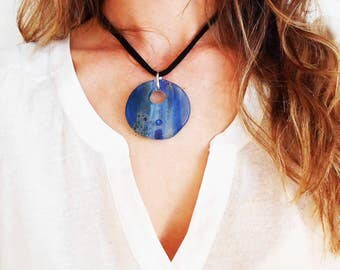 Aqua Crystal Necklace