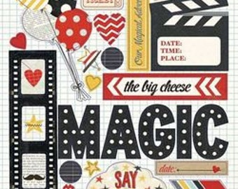 Chipboard Stickers - Say Cheese 8pc - Simple Stories