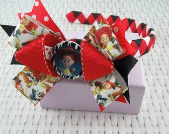 Woven Headband Inc Boutique Bow - Jessie Toy Story
