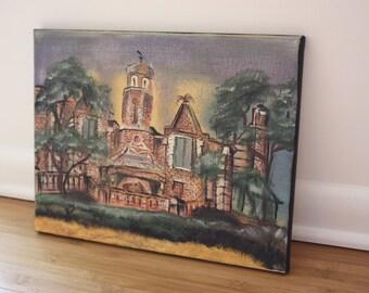 Haunted Mansion Exterior Original Painting