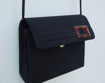 Vintage '80s Black Evening Bag