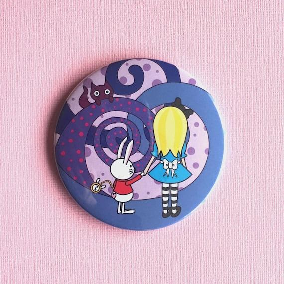 Alice in Wonderland Cute Illustrated Pocket Mirror
