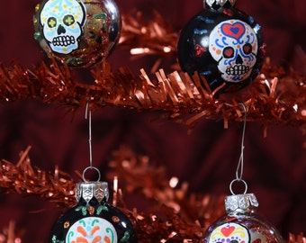 Sugar Skull Christmas Ornaments. Day of the dead