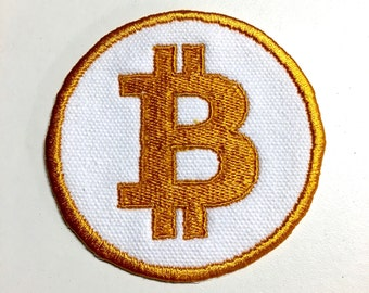 """Bitcoin Iron-On Patch - 3"""""""